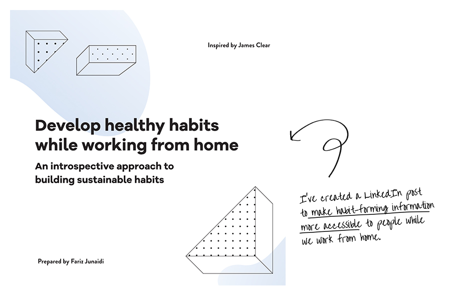 Creative Chronicles Fariz - WFH Healthy-habits
